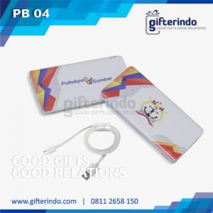 Power Bank Custom Putih Android Poltekpel Sumbar