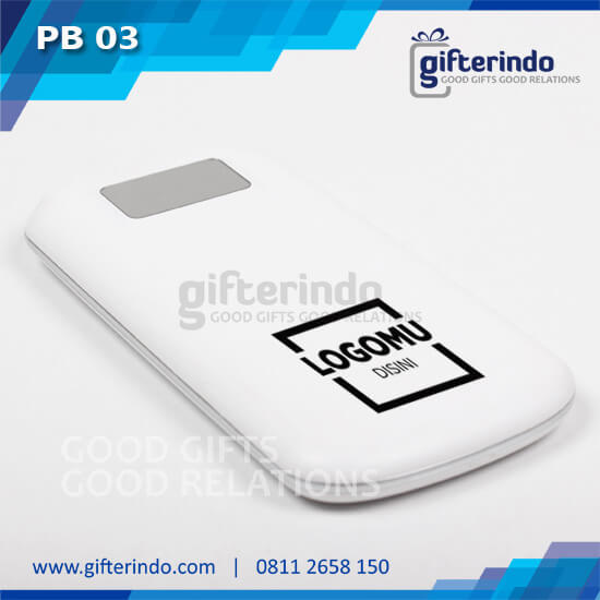 Power Bank-Custom putih Android
